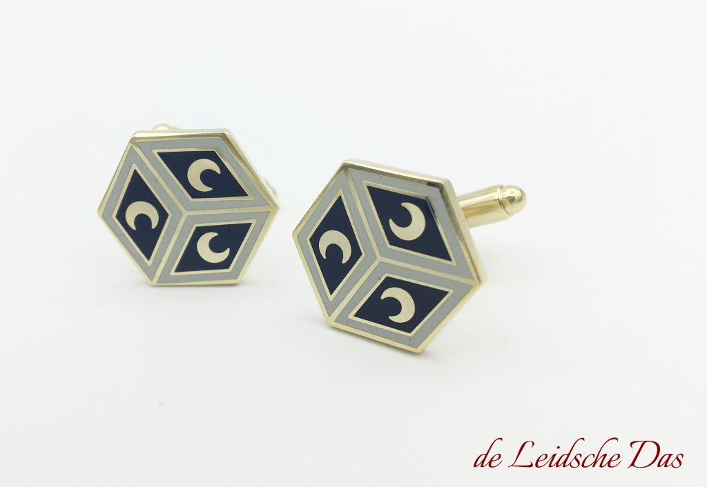 Custom made cufflinks or pins, custom cufflinks made to order in a client-specific cufflinks design
