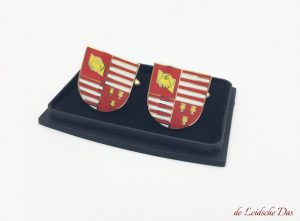 Personalised cufflinks custom made with your crest, logo or coat of arms