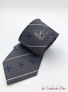 Bespoke neckties for companies or organizations, woven neckties in a personalized tie design