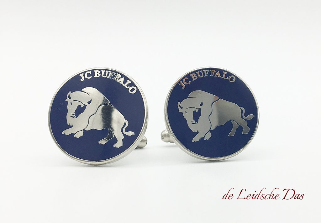 Custom made cufflinks with a logo and tailor-made ties with a logo