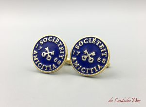 Enamel Cufflinks with Logo Custom Made in your personalized cufflinks design