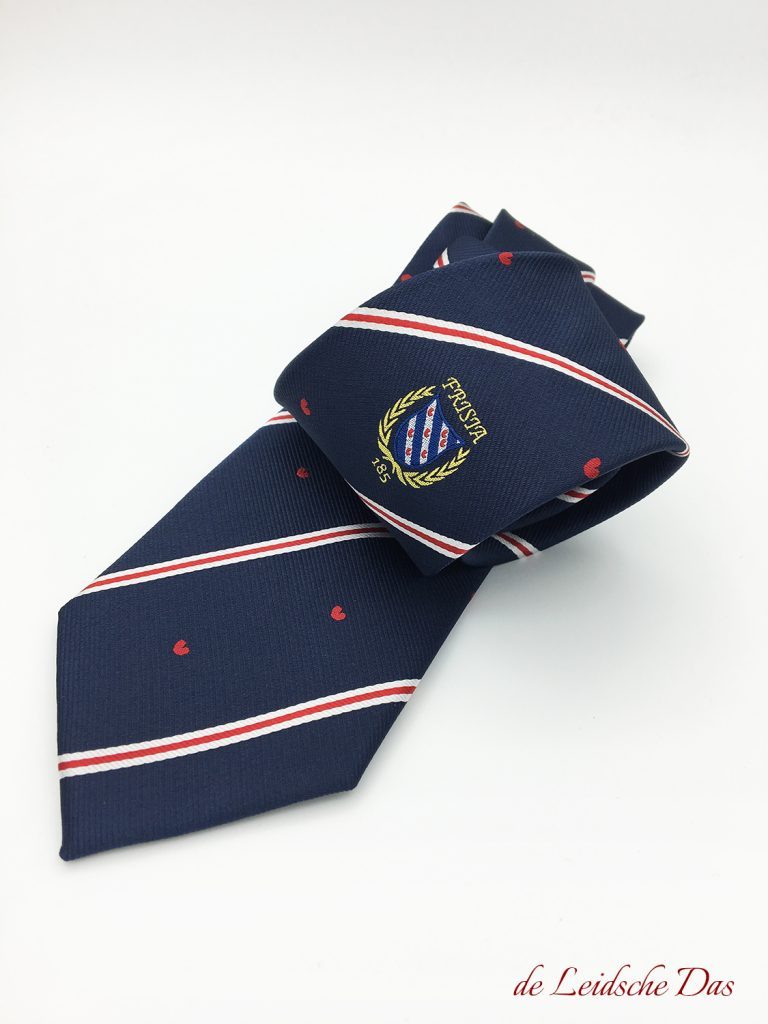 Personalized tie made in your own necktie design, custom made ties for clubs & organizations
