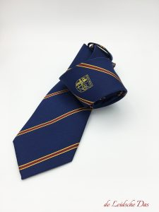Custom made corporate & club neckties with crest, logo or coat of arms, custom silk ties