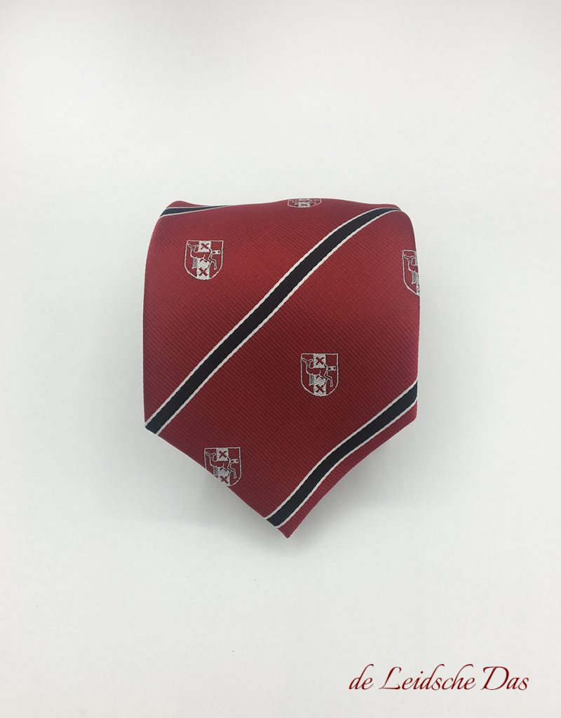 Bespoke necktie with logo in your custom design, custom ties with your crest, logo or coat of arms