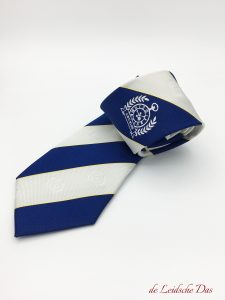 Custom neckties with club logo and custom made cufflinks with the logo of your club