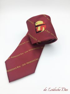 Custom ties with text and logo woven in a personalized tie design