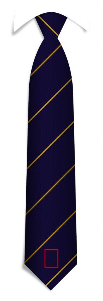 Necktie Tip Logo Position - Necktie Design