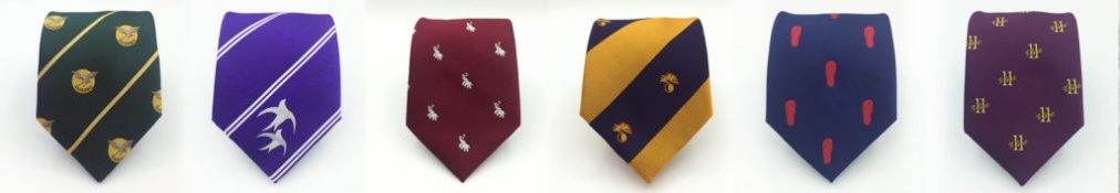 Custom team neckties, Custom woven ties in a personalized necktie design.