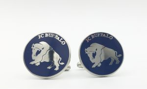 Custom Company Logo Cufflinks with Buffalo Logo