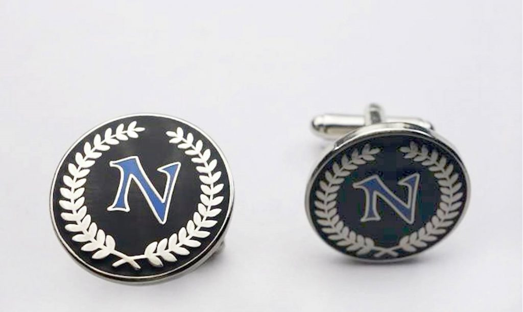 Custom logo cufflinks, custom made round cufflinks in your personalized cufflinks design