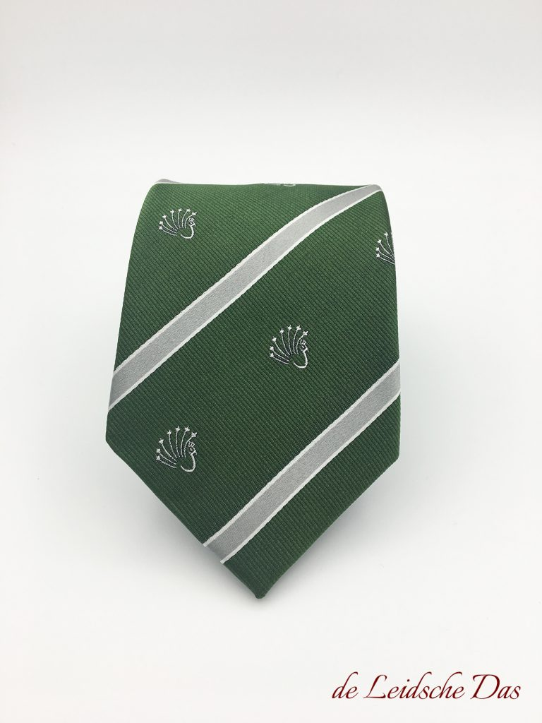 Custom woven silk ties with recurring logos, custom ties in your personalized design