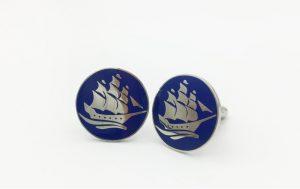Nautical Cufflinks Custom Made for Yacht Club