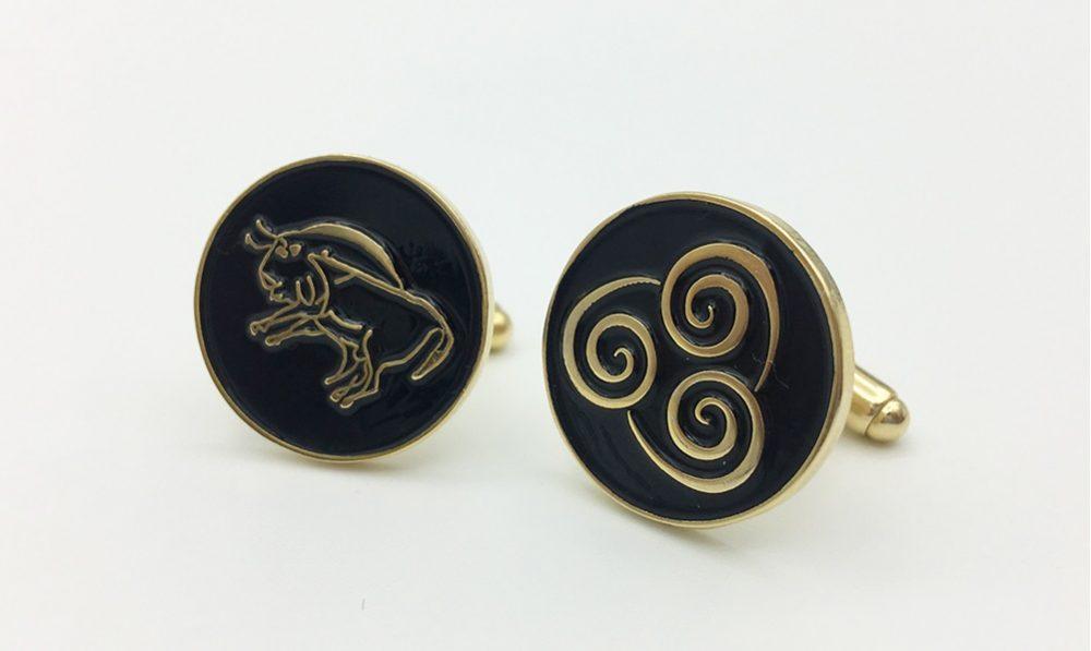 Custom Cufflinks, Specially designed Cufflinks for a Spanish association, Custom logo cufflinks