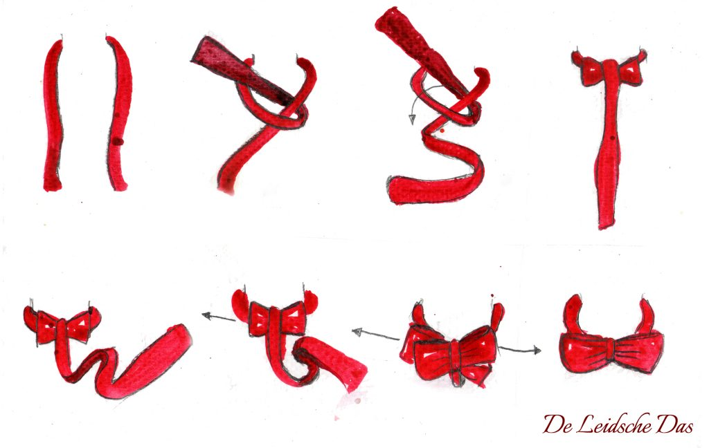 Tie a self-tie bow tie instructions