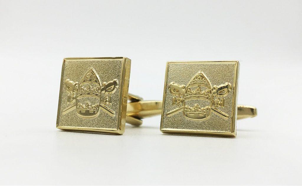 Custom logo cufflinks, custom designed cufflinks with your coat of arms or logo
