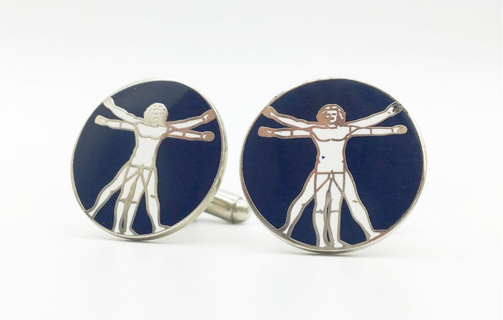 Custom logo cufflinks made to order in a custom made design for your organization