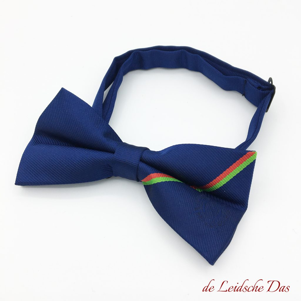 Personalised bow tie custom woven to your design