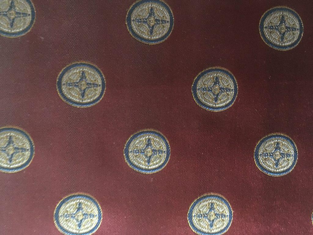 Jacquard Woven Silk Fabric for 41 Club Ties