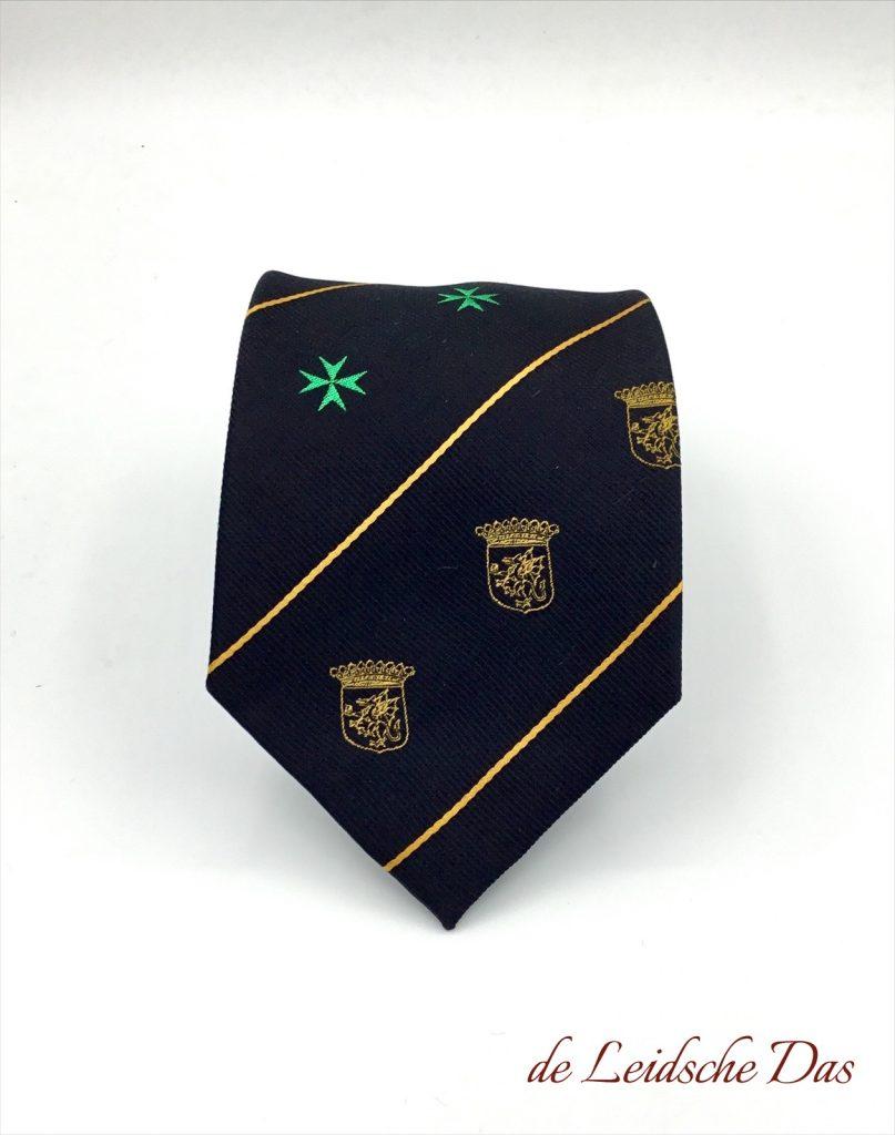 Coat of Arms Neckties, Woven neckties in your custom made necktie design