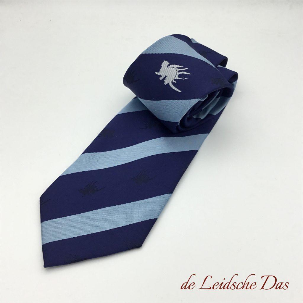 Striped logo neckties woven in a custom tie design, no printed logo ties