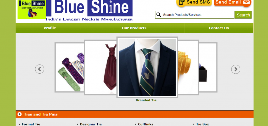 Blue Shine Tie Manufacturer is Using our Tie Image!