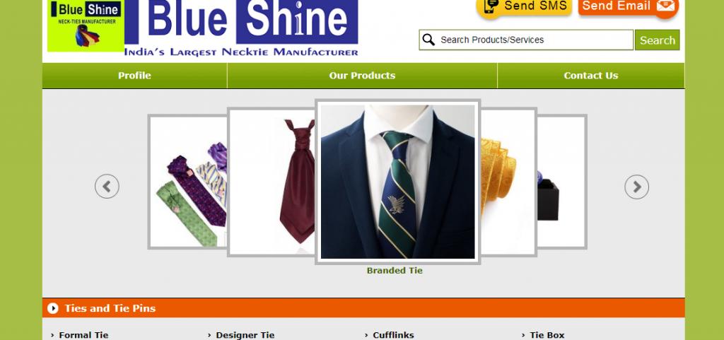 Indian necktie manufacturer blue shine indicates that we make the best custom made neckties.