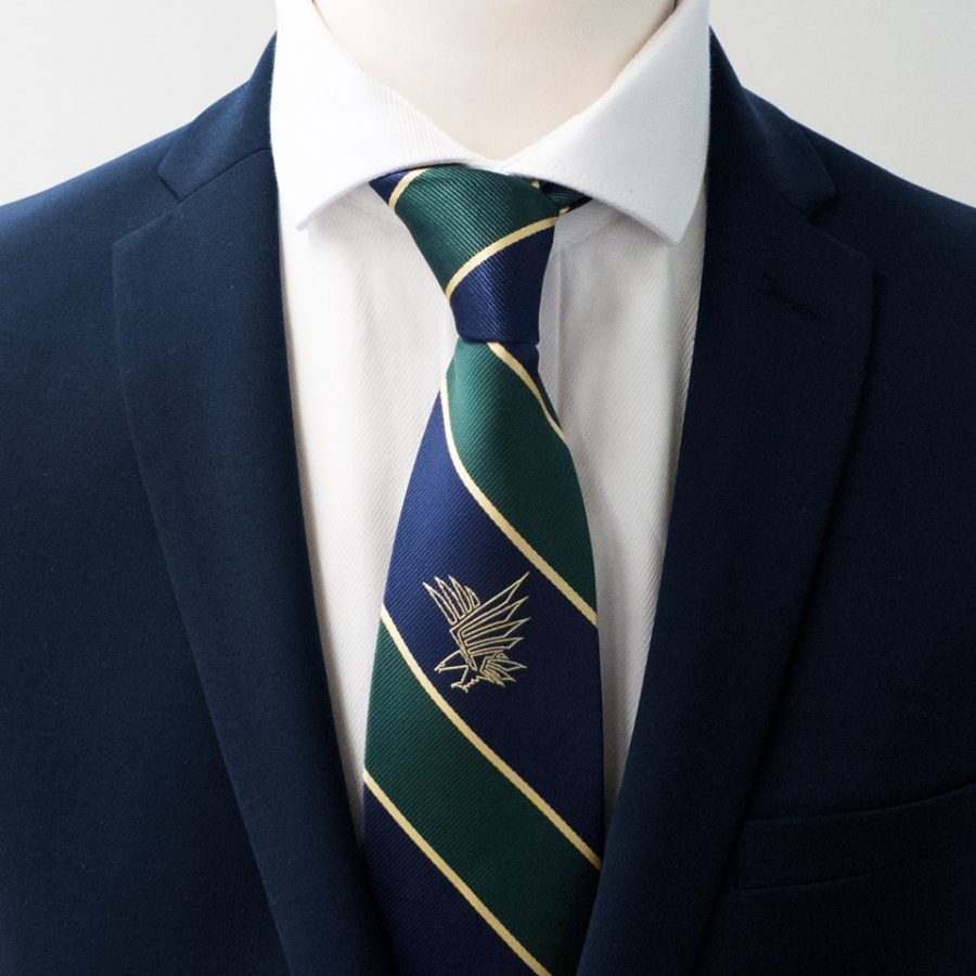Neckties in striped pattern with logo custom made