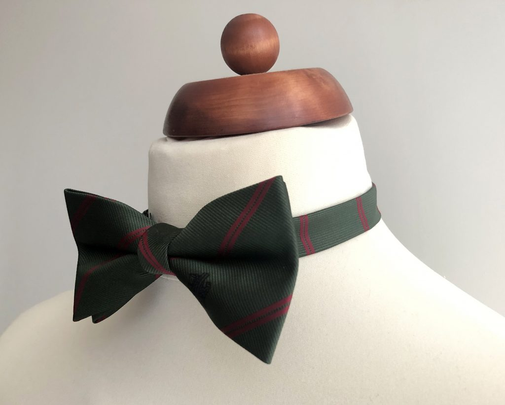Custom bow ties made as a pre-tied bow tie