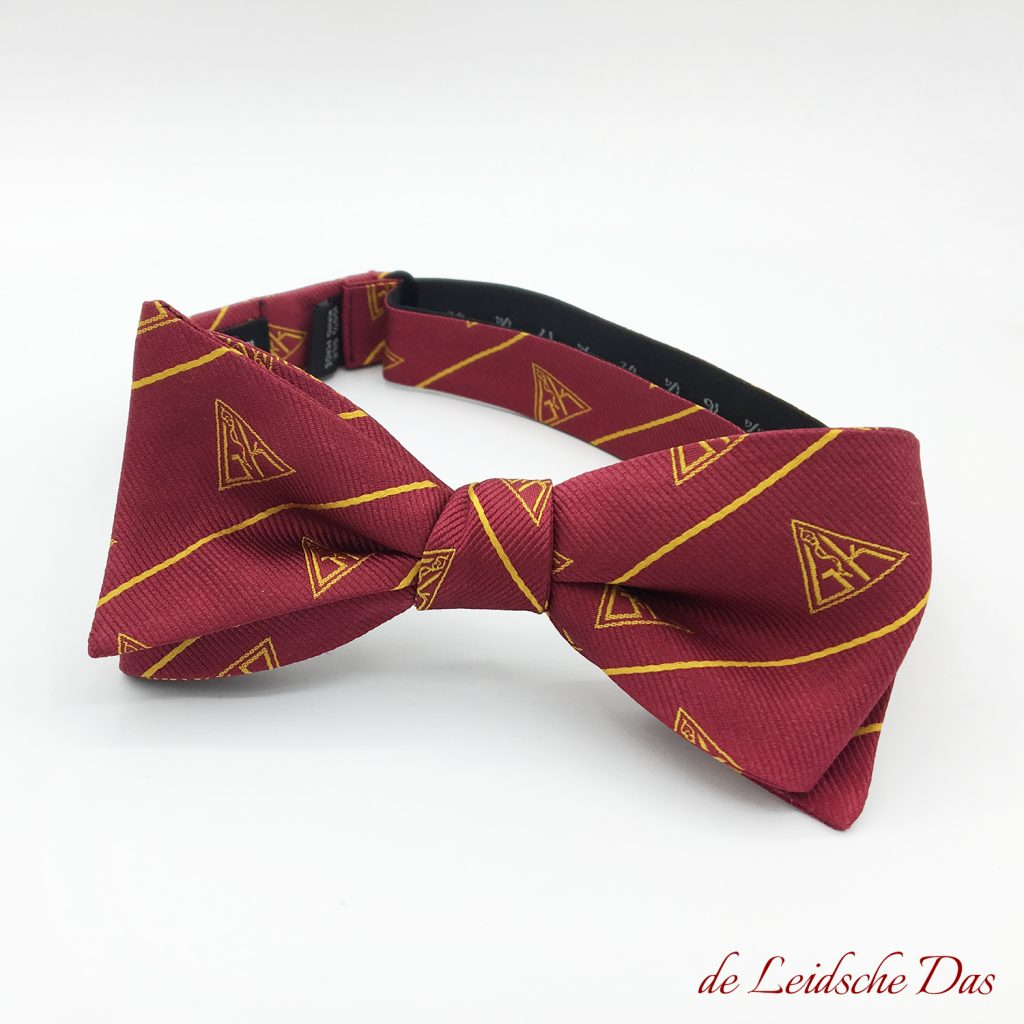 Custom made red bow ties with logo
