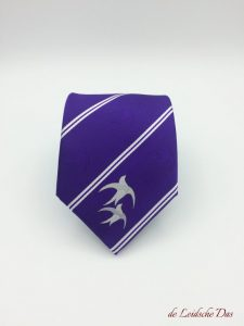 Purple Ties custom made with Club Logo