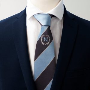 Logo necktie woven in custom necktie design for clubs and companies