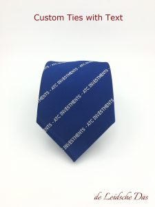 Necktie logo or text positions - Custom ties designs