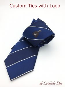 Necktie logo in center position - Custom ties designs