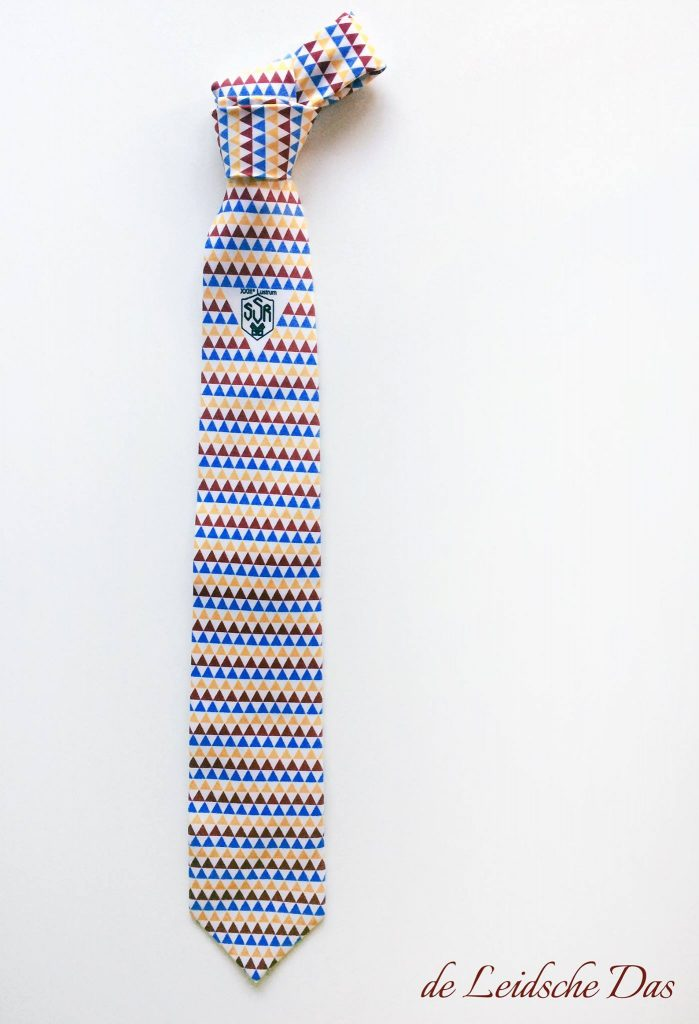Neckties with logo made in a custom pattern