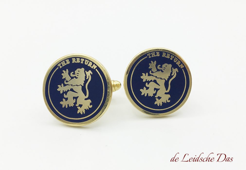 Cufflinks with a logo, Custom cufflinks with the image of a lion