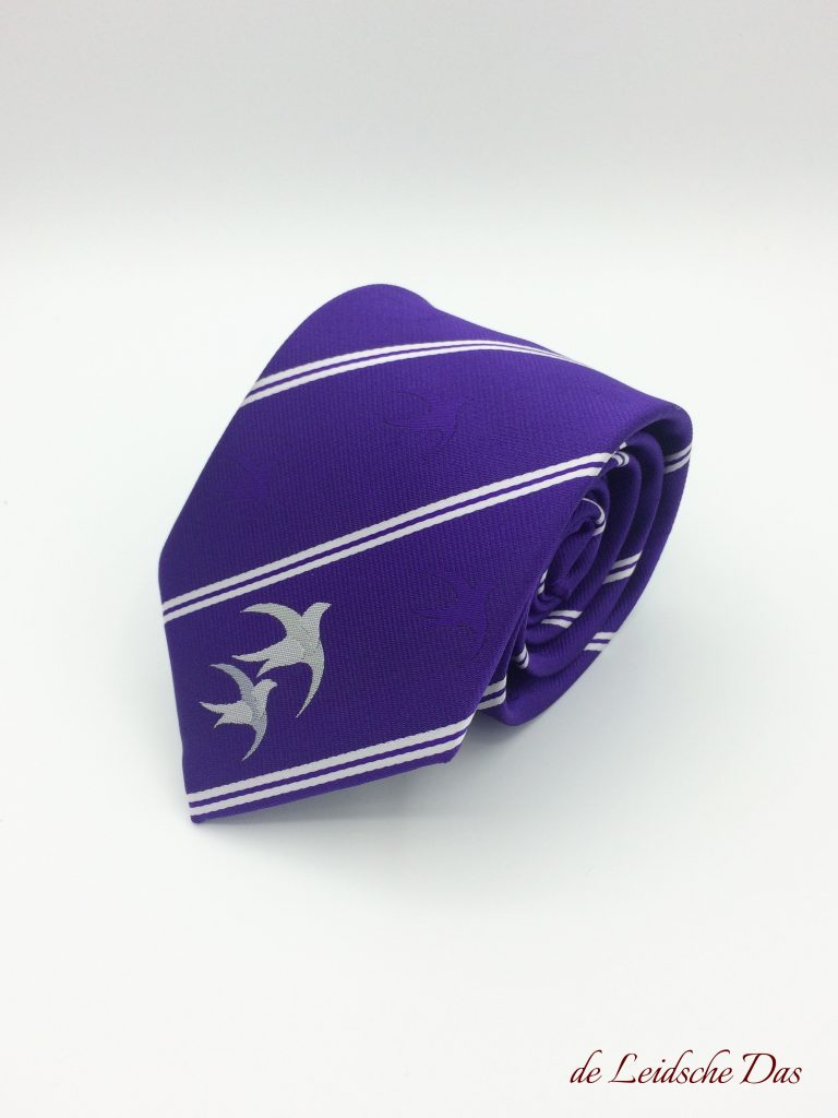 Custom tailored ties with your club or company logo in a personalized tie design