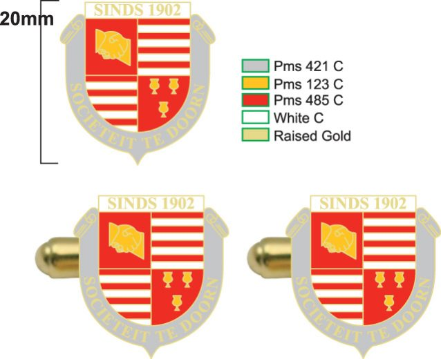 Design example of custom cufflinks with crest - Prices for cufflinks custom made