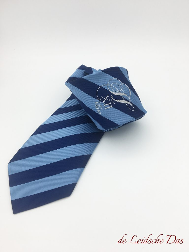 Custom woven team neckties, Custom made ties with your club logo & colors