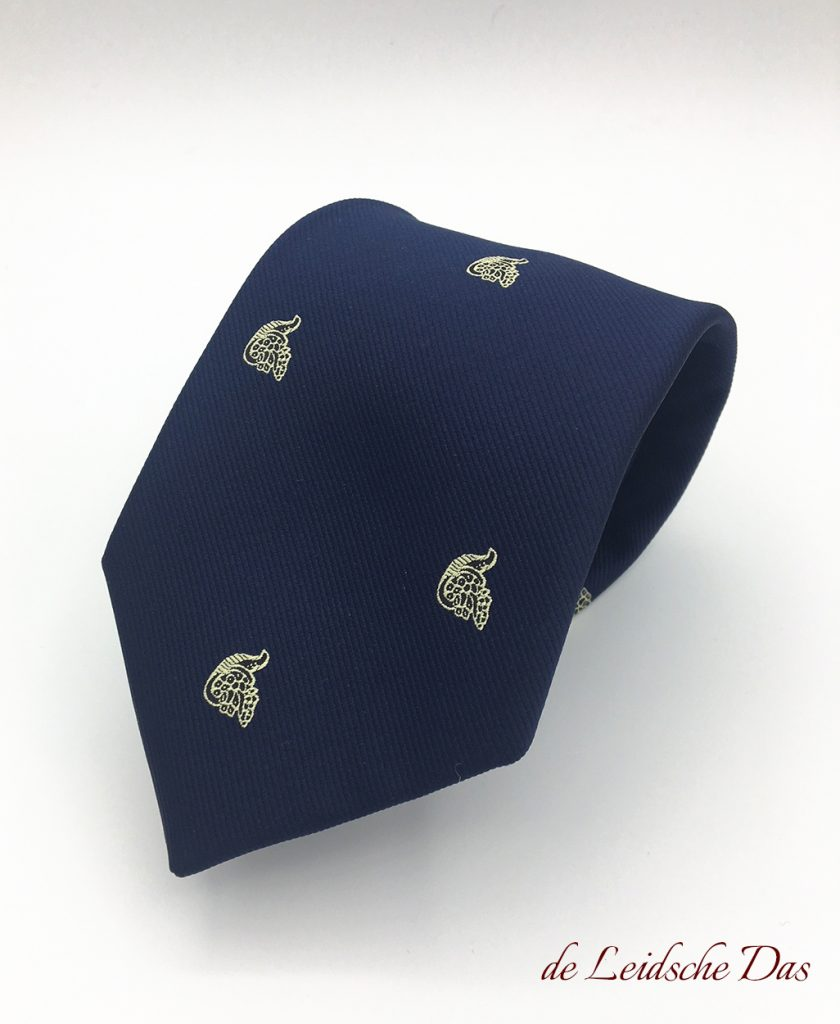 Corporate logo neckties for companies made in the corporate identity, Custom woven neckties