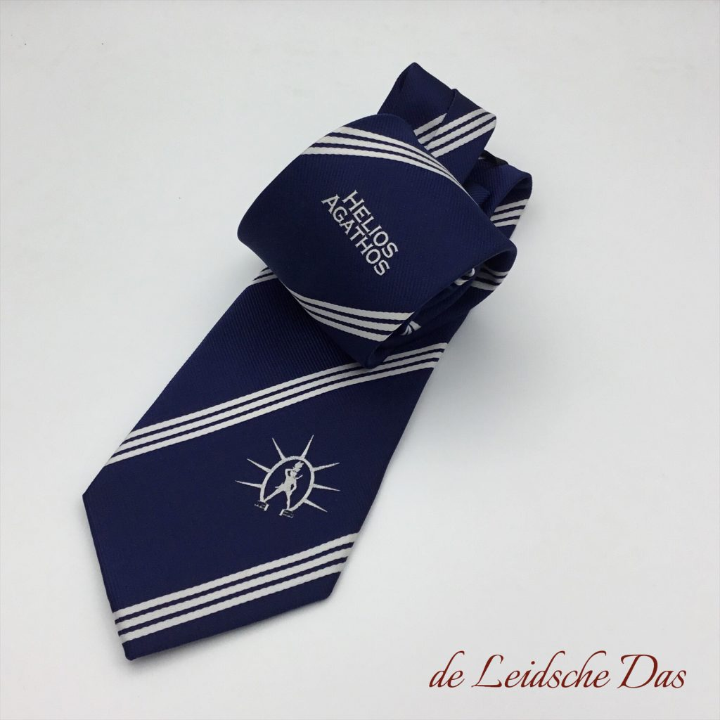 Custom designed fraternity ties, custom woven ties in 100% silk and high quality microfiber