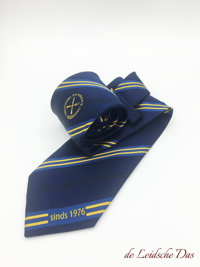 Logo neckties made in custom tie designs, Custom woven ties in a personalized tie design