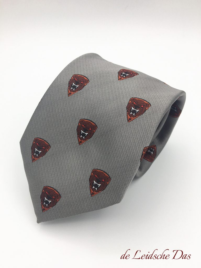 Original neckties with your club logo, custom woven ties, so not printed or embroidered!
