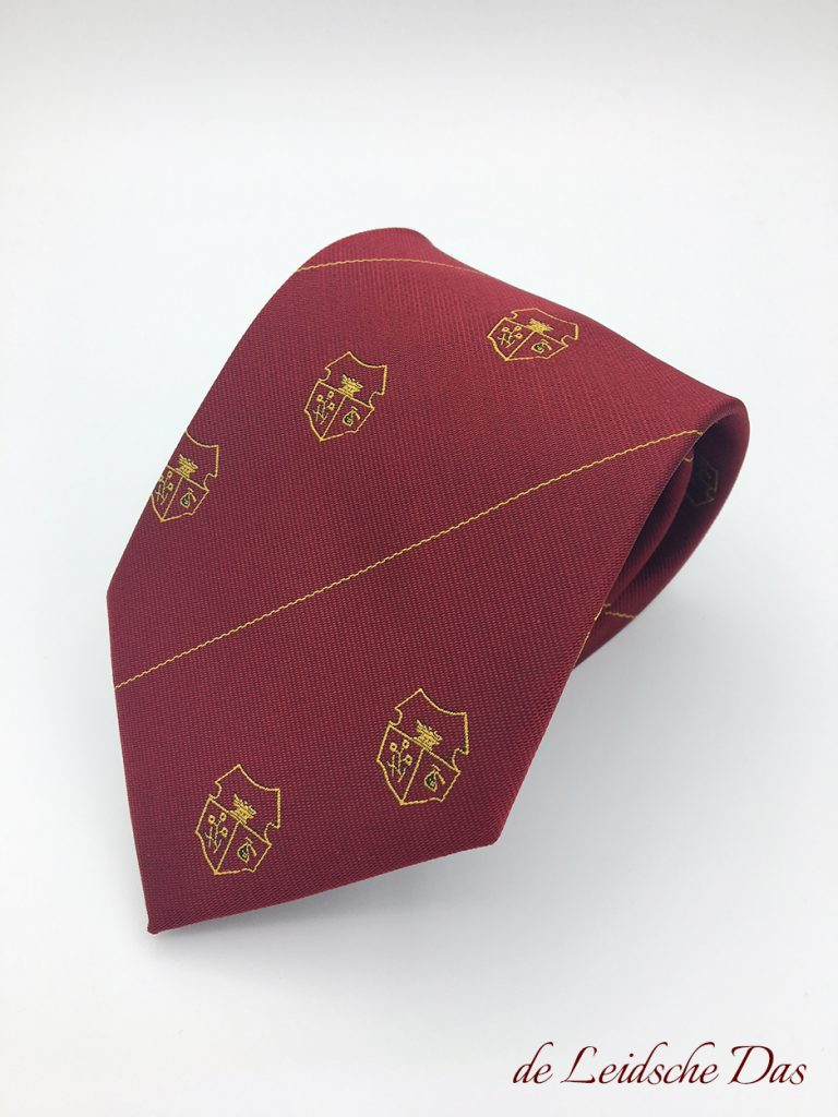 Customization of neckties with your logo in your custom made necktie design