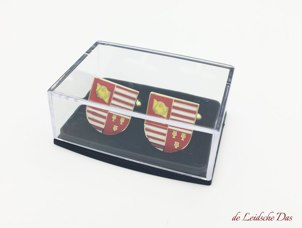 Promotional cufflinks with your crest. logo or coat of arms made in a personalized cufflinks design
