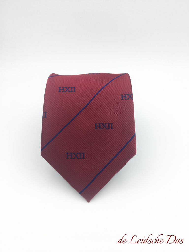 Tailor made club tie, Ties with your clublogo custom made