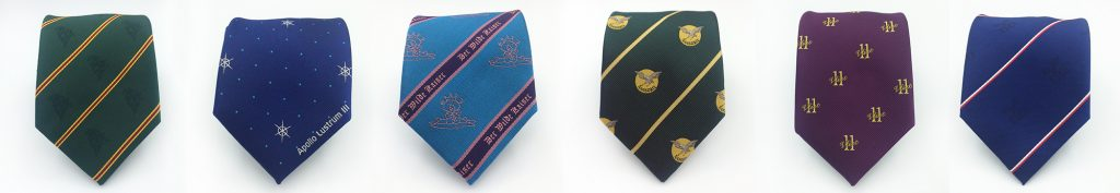 Tailor made company and club ties in a personalized necktie design