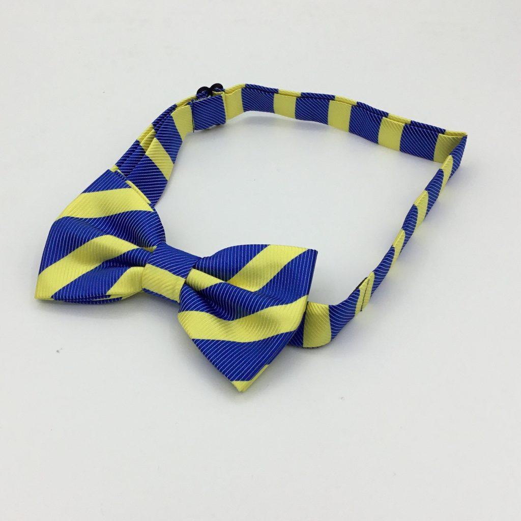 Pre-tied, custom made striped bow ties