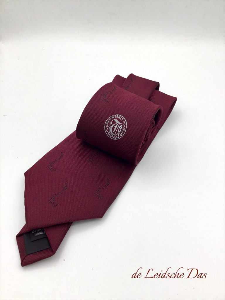 Custom woven staff ties in a solid color with business logo, custom-designed ties for your company