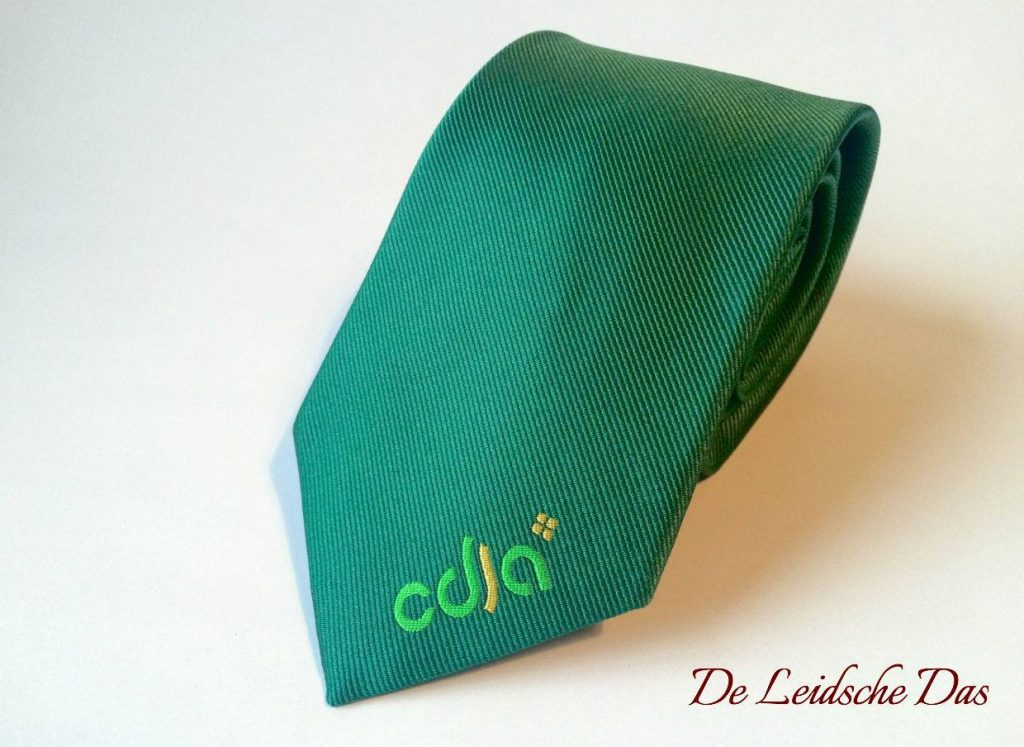Green tie with a logo in our gallery custom ties, custom ties woven in your own personalized design
