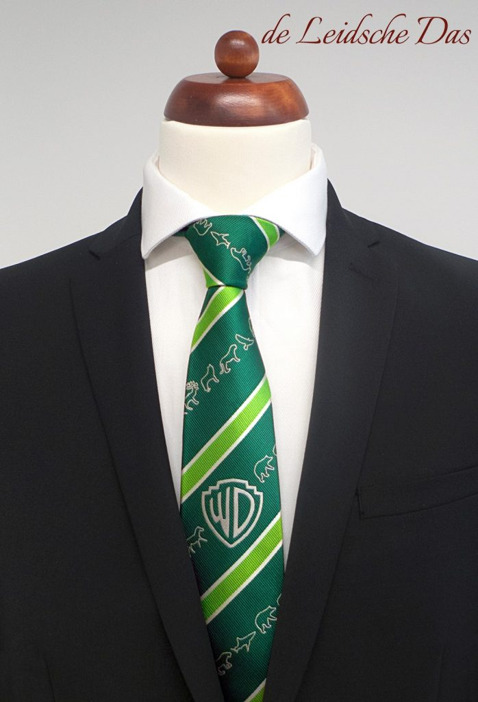 Staff ties specially made in a personalized tie design, custom-designed and custom woven ties